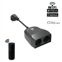 Smart Wifi Extension Socket IP44 Outdoor Use Remote Controlled by App in your Smartphone 2 EU AC Power Outputs Works with Alexa