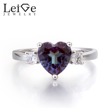 c93d78f87a Leige Jewelry Alexandrite Ring Promise Rings June Birthstone Color Changing  Gems Solid 925 Sterling Silver Heart Cut Gemstone - Affordable Jewelry