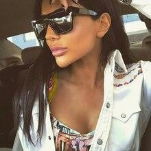 Pop Edad 2018 Fashion Square gafas de Sol de Gran Tamaño Mujeres Celebrity 400UV Conducción gafas de Sol de Los Hombres Gafas de sol Gafas