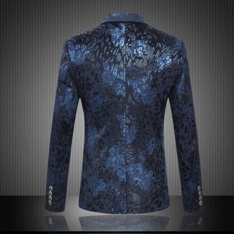 2017 Men Suit Jackets Dress Suits Jackets and Blazers Men's Casual Fashion Slim Fit Plus Size Double Button Style Blazers Coats - 3