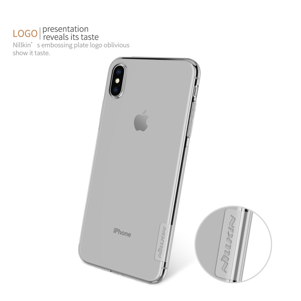 For iPhone XR Case Nillkin Nature Series Transparent Clear Casing Soft TPU Case For iPhone 11 Pro Xs Max XR 6 6S 7 8 Plus Cover
