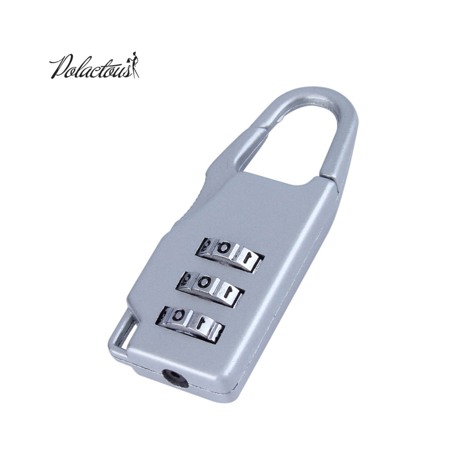 1 PC.  Resettable 3 Digits Combination Lock Travel Case Suitcase Lock Metal Luggage Locks