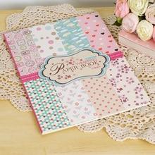 2015 exclusive diy dekorative scrapbooking set w/16 sheets/lot rosa polka dot muster Gemischten kunstdruckpapier für verpackung geschenk