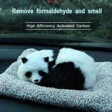 Активированного угля творческие моделирование Животные Реплика панда в автомобиле украшения авто Интерьер игрушки для приборной панели украшения подушки коврик