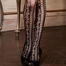 Ladies hollow high waist open crotch fishnet mesh