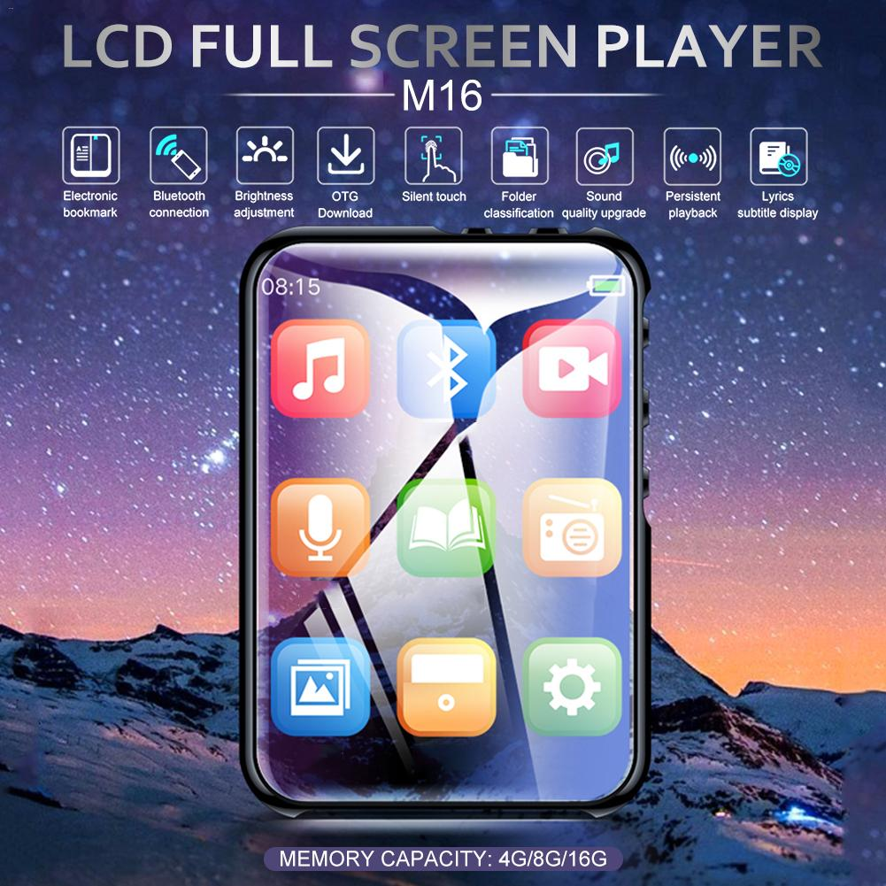 M16 MP4 Player 2,4 Inch LCD Full Screen Bluetooth Musik-Player Stereo Mini-Player Tragbare Schlanke MP3 MP4 Player