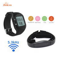 5 3kHz Heart Rate Chest Belt Steps Calories Counter Sports Activity Tracker Wristband Pedometer
