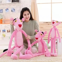 75/90/115 cm Stuffed Panther Leopard Toy Kids Child Cute Naughty Plush Doll Pink Plaything Toy Gift