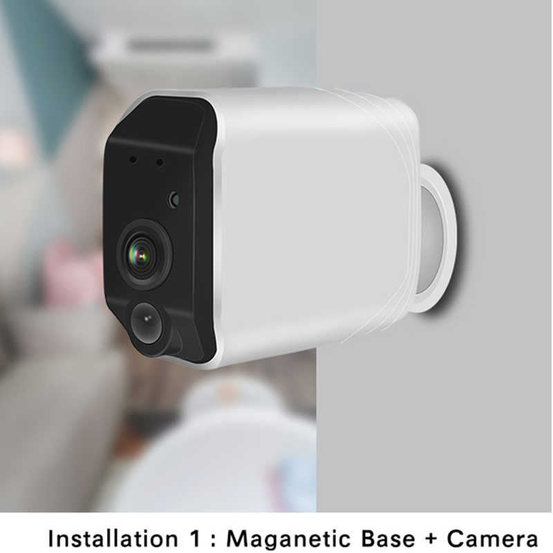 1080P Full HD batterie caméra extérieure sans fil WiFi batterie IP caméra deux voies Audio Rechargeable caméra de sécurité
