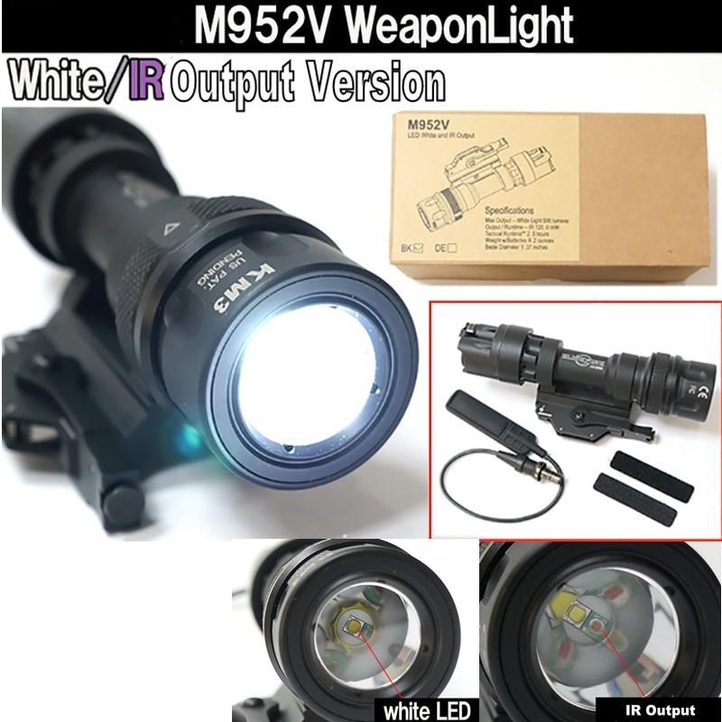 cqc m952v saida ir olheiro luz qd monte airsoft lanterna led tatico paintball caca rifle arma