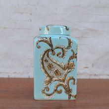 The Tao Caicai trade square of blue ceramic decorative decoration jewelry rack shelf tank