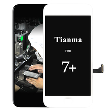 2pcs 1000% original No Dead Pixel For iPhone 7 Plus LCD Display With Touch Screen Digitizer Assembly Black&White Free Shipping new black frame for pixel repair cluster lcd display screen for audi tt 8n series jaeger free shipping
