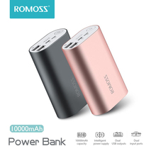 ROMOSS ACE A10 10000mAh Power Bank Dual USB Outputs Aluminum Alloy External Battery Pack F