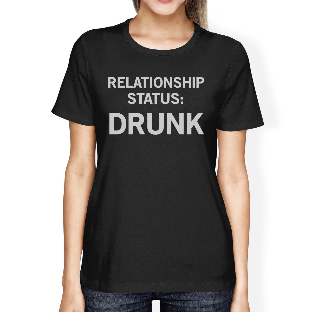 Desain t shirt unik - Status Hubungan Hitam Lengan Pendek T Shirt Unik Ide Hadiah Merek Fashion Harajuku Hipster Perempuan T