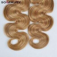 Brazilian Hair Weave Bundles Body Wave 3 Tone virgin Remy blond Human Hair Bundles Can buy 3 Bundles