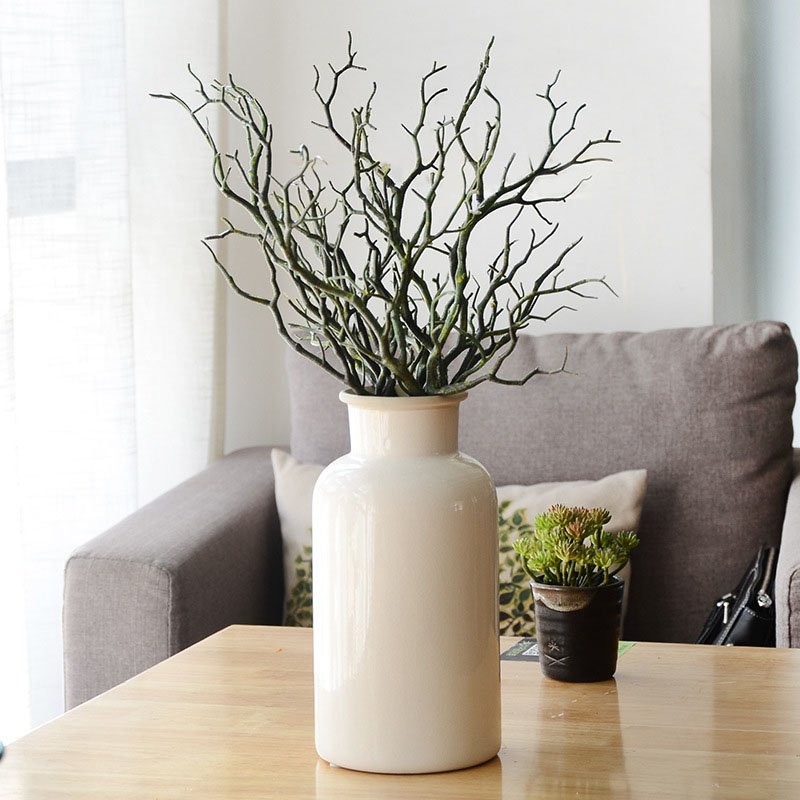 Пластиковые растения искусственные, свадебные украшения сушеное дерево домашний декор Павлин коралловые ветви J2Y - Цвет: 4