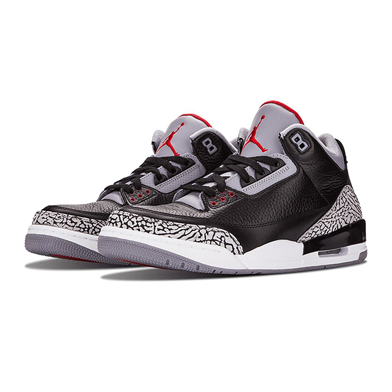 287a8cfb87bf64 Original New Arrival Authentic Nike Air Jordan 3 Black Cement AJ3 Men  s  Basketball Shoes Sneakers Sport Outdoor-in Basketball Shoes from Sports ...