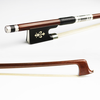 Free Shipping 4/4 Size Pernambuco Violin Bow Round Stick Fast response Exquisite Horsehair Ebony Frog Violin Parts Accessories 202c 4 4 woven carbon fiber cello bow ebony frog with fleuron nickel silver fitted natural horsehair violin parts accessories