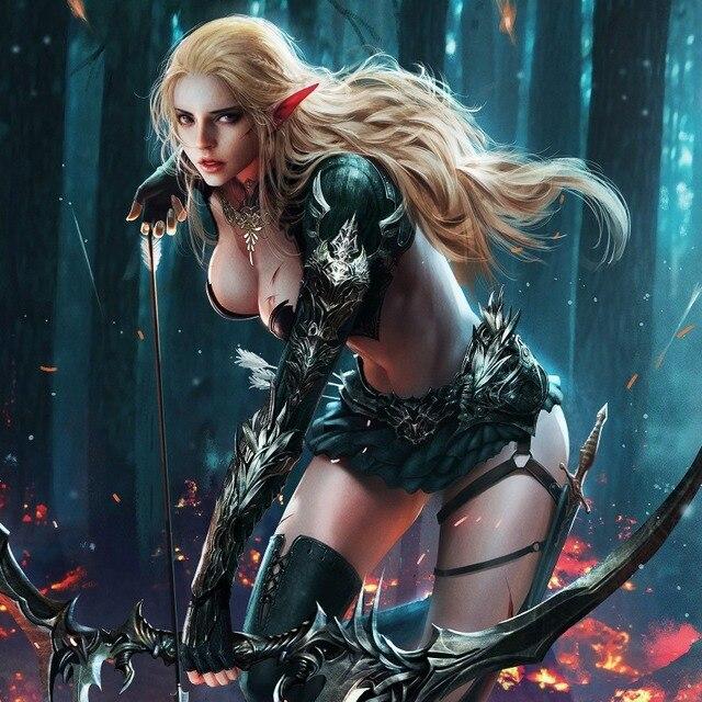 Sexy wood elf female
