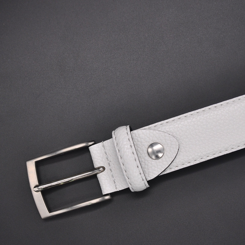 or Grey Brown Pebble Grain Genuine Leather Jean Casual Jean Belt for Men Black White