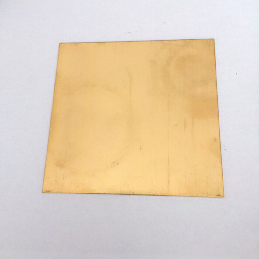 100x100x5mm H62 High Tenacity Brass Plate Building Manual Material DIY Use Tools Brass Block Sheet Pieces