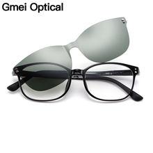 a424ff2569 Gmei Optical Fashion mujeres ovalado Ultem gafas marco ultraligero polarizado  magnético Clip en gafas de sol gafas ópticas S2027