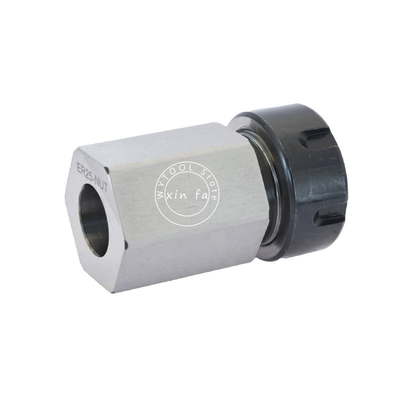 Image 3 - 1PCS Spring Chuck Collet Holder Hex ER32 ER25 Collet Block 45x65mm For Lathe Engraving Machine-in Tool Holder from Tools