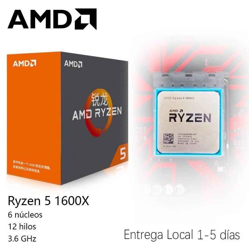 AMD Ryzen 5 1600X AMD Ryzen série 3.6 ghz Socket AM4 PC CPU 14 nm Sommet Crête AMD ry zen r5 1600X CPU De Bureau processeur