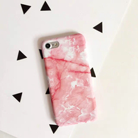Fashion Pink Granite Marble Case For Iphone 7 Case For Iphone7 6 6S Plus Hrad Frosted