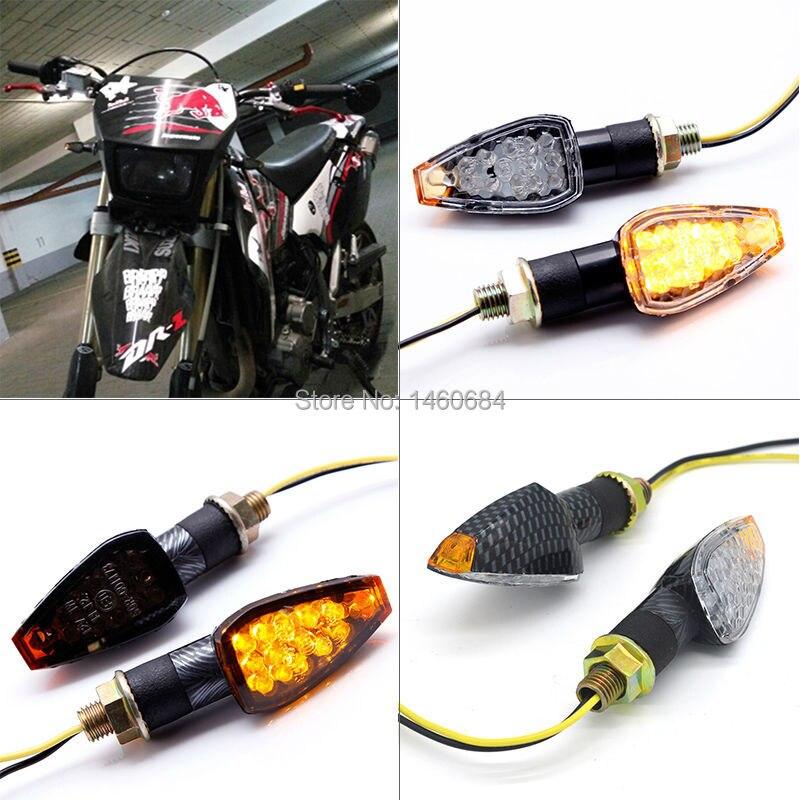 Motocicleta-styling 2 unid universal led intermitentes led indicadores direccion