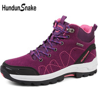 Hundunsnake High Women Trekking Boots Mountain Woman Hiking Boots Hiking Shoes Woman Outdoor Shoes Women's Sneakers Track T537