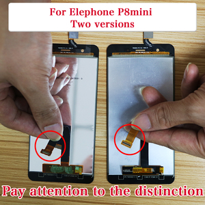 Image 2 - BingYeNIing, новый оригинальный для Elephone P8 Mini сенсорный экран и ЖК дисплей в сборе, замена