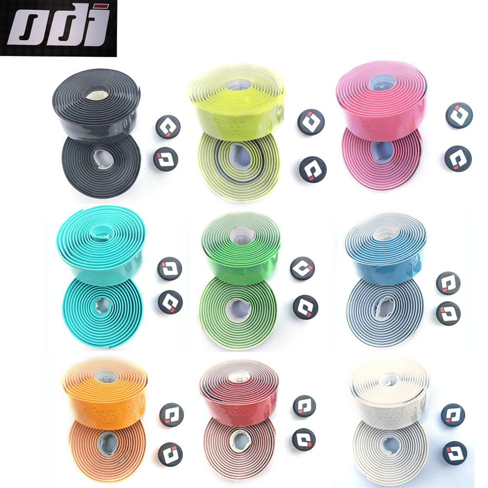 ODI Road Bicycle Handlebar tape BMX DH FR balance bike Cycling Handle Belt Cork Wrap with Bar Plugs 9 Colors Free of freight