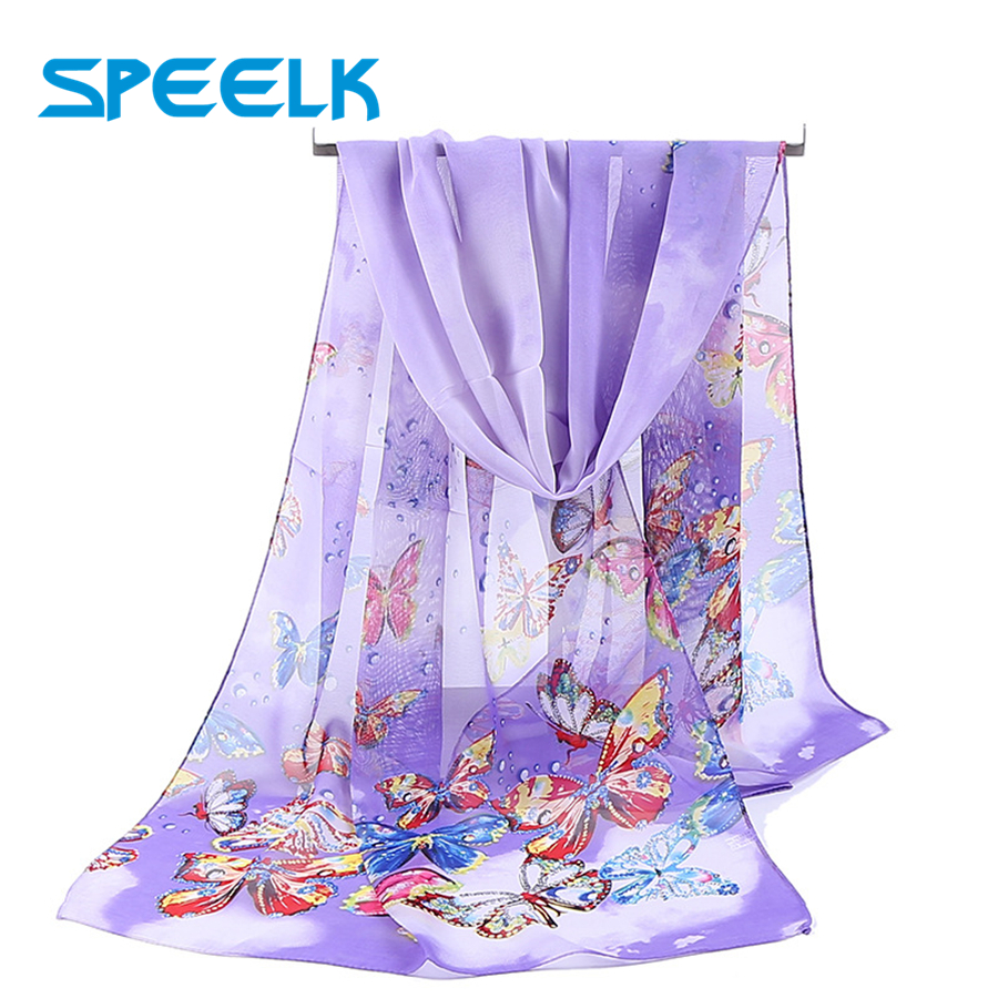 Animal Simulation Silk Scarf Women Chiffon Scarves Middle Long Shawl Female Spring Summer Literary Print Beach Wrap Wholesale