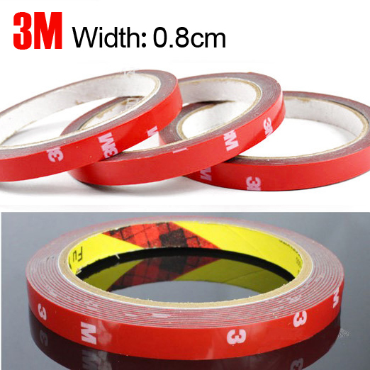 HUANLISUN 3meters Double Sided Super Sticky Adhesive Tape Roll Craft 8mm PCB Dust Proof Double Faced Acrylic Foam Adhesive