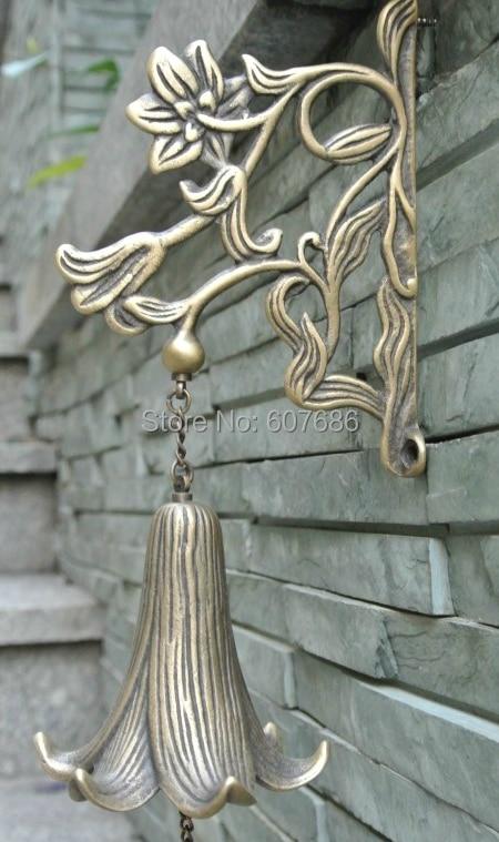 Cast Copper Windchimes Bell Sound 100 Copper Lily Flower
