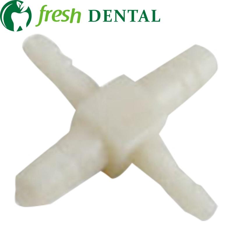 100PCS Dental chair unit 4 way accept adaptor 2 big 2 small adaptor water tube pipe dental products dental equipments SL1321