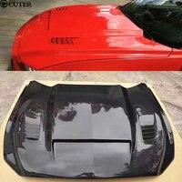Carbon fiber engine hood car body kit hood engine cover for Ford Mustang 15 17