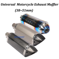 Universal Akrapovic Motorcycle Exhaust Muffler Modified 470mm 425mm Moto Escape For TMAX500 XMAX300 GSX1300R ZZR1400 XJR1300