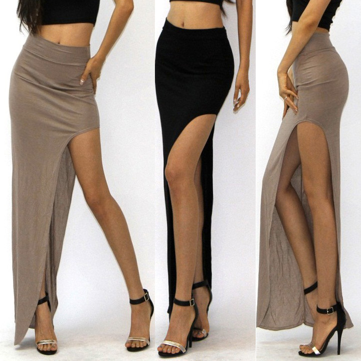 Aliexpress.com : Buy women high waist sexy skirts lady long skirt ...