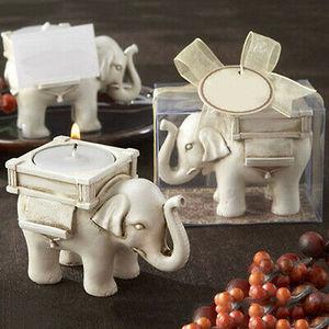 Image 3 - Ретро подсвечник в виде слона для чая, Керамический Свадебный домашний декор цвета слоновой кости