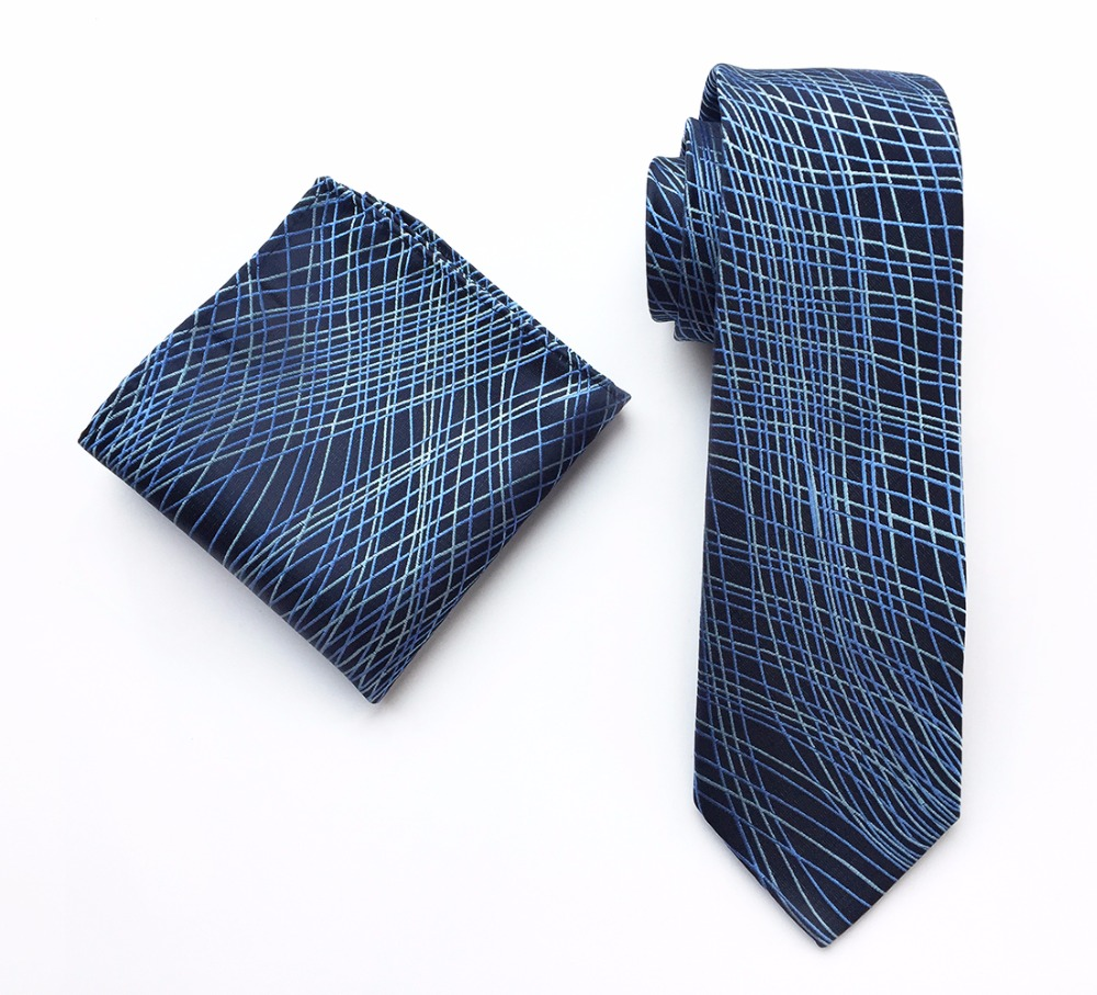Ricnais New Arrivel Handkerchief Tie Set Silk Jacquard Weave Neck Tie For Men Pocket Square Corbatas Hombre Hanky Suit Wedding