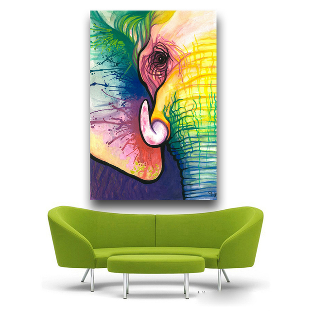 RELIABLI Canvas Art Decorative Painting Elephant Art Print Poster Wall Animal Frameless Picture For Living Room Home Decor 2