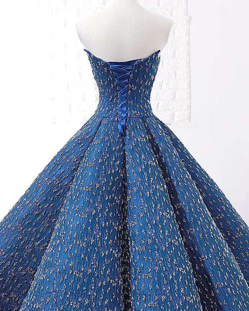 J66675 jancember כחול שמלת ערב 2019 אורך רצפת שמלת נשף סטרפלס ללא שרוולים מפלגה לנשף שמלות תחרה עד платье вечернее