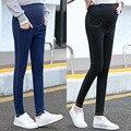 Calça Jeans Para As Mulheres Grávidas Roupas de Enfermagem algodão Maternidade Calças Justas Leggings Longo Barriga Prop Roupas Gravidez 2017