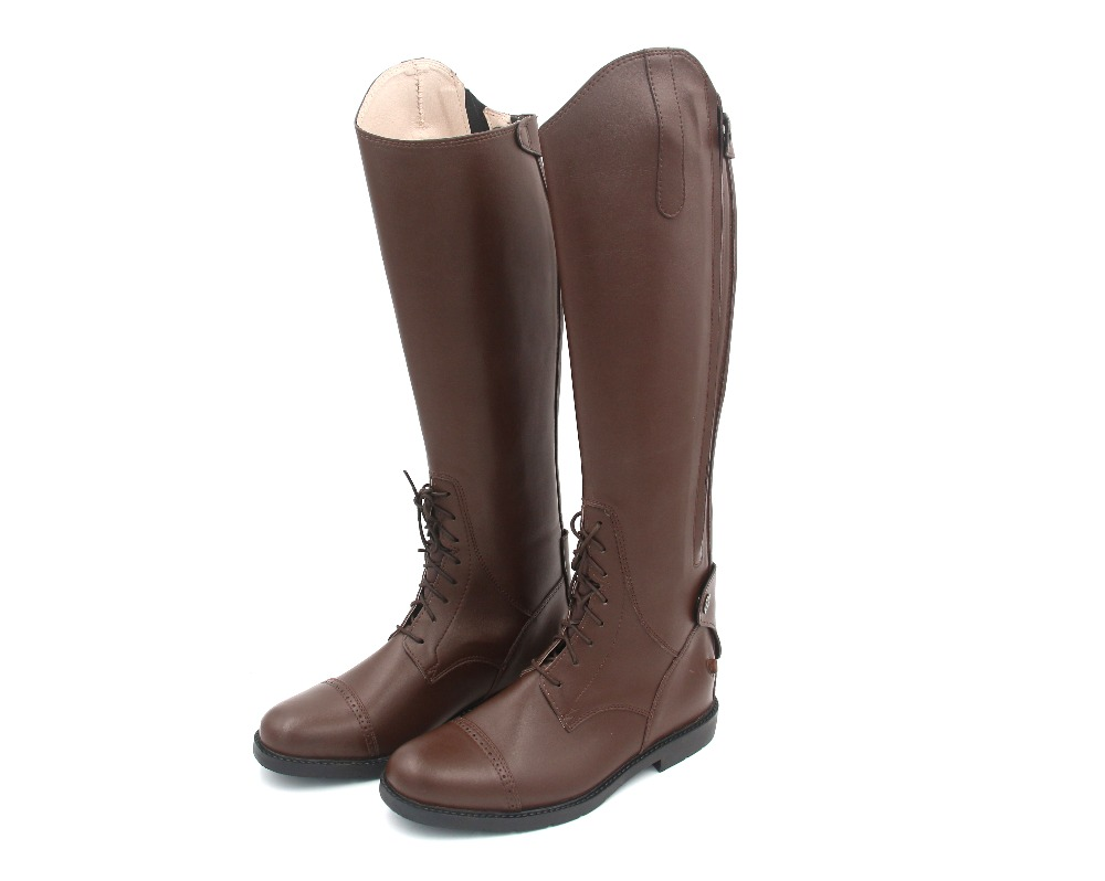 Aoud Horse Riding Boots Full Leather Leather Lining Dressage Boots Equestrian Boots Unisex Customized Horse Riding Equipment