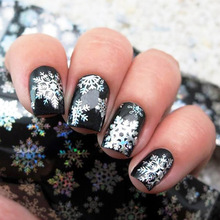 цена на 1pcs 4cm*100cm Nail Foils Manicure Christmas Snowflake Design Holographic Nail Art Transfer Stickers Nail Foil Paper #NXZ05-9