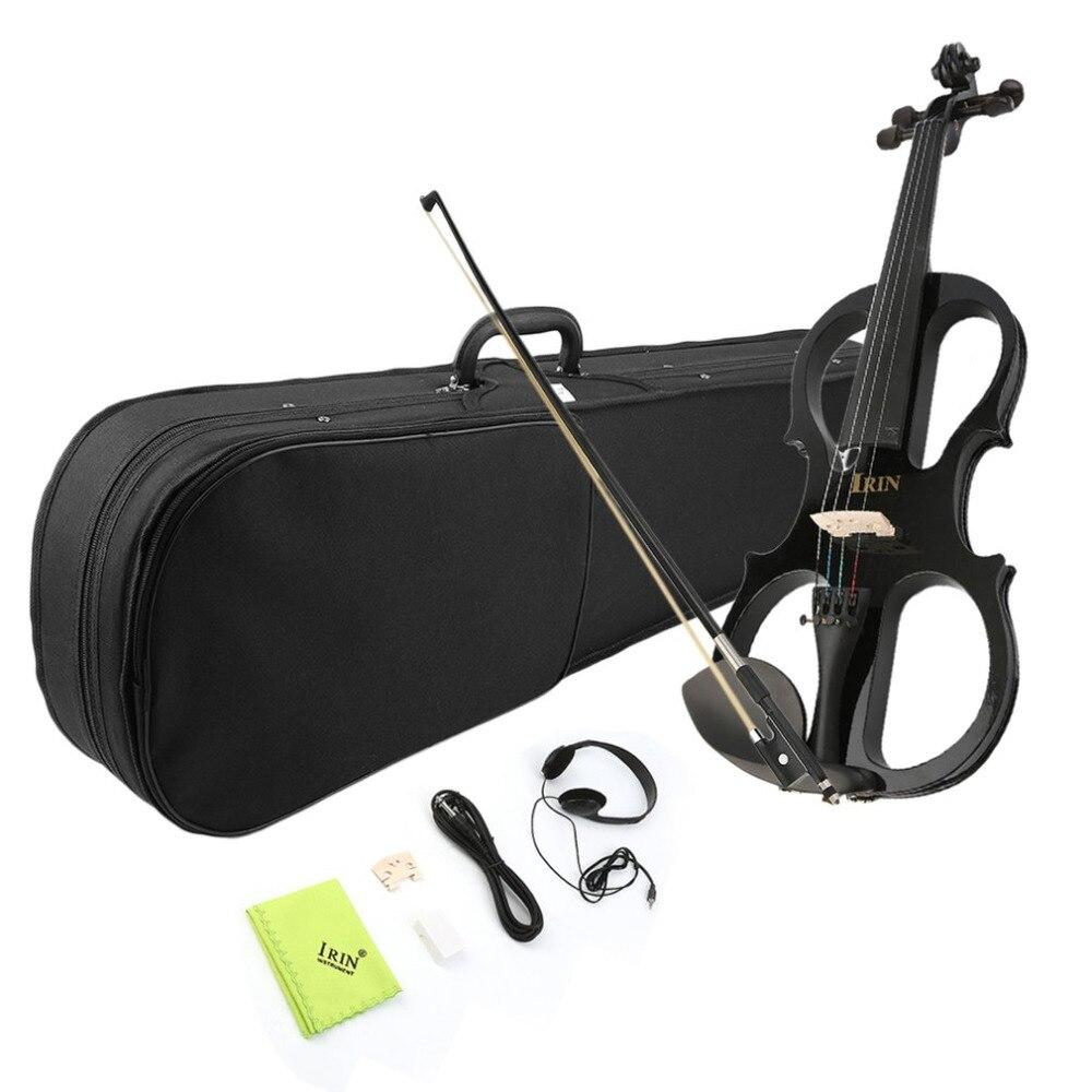 Здесь можно купить  NEW Best for Beginners 4/4 Maple Electric Violin Fiddle Headphone Case UK Plug with Exquisite and Delicate Surface  Спорт и развлечения