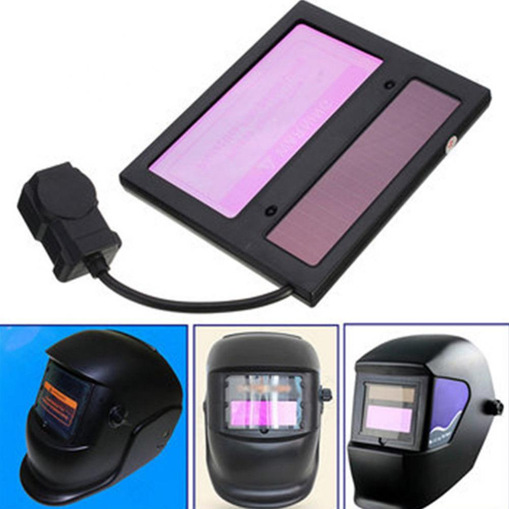 Solar Auto Darkening Welding Helmet Mask Lens Automation Filter Shade Goggle leather welding hood helmet auto darking filter lens