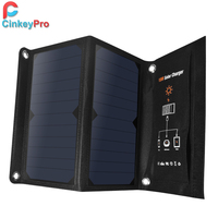 Cinkeypro 2-puertos USB Cargador solar 15 W 5 V/2.1A Max para Samsung iPhone con alta eficiencia panel solar portátil